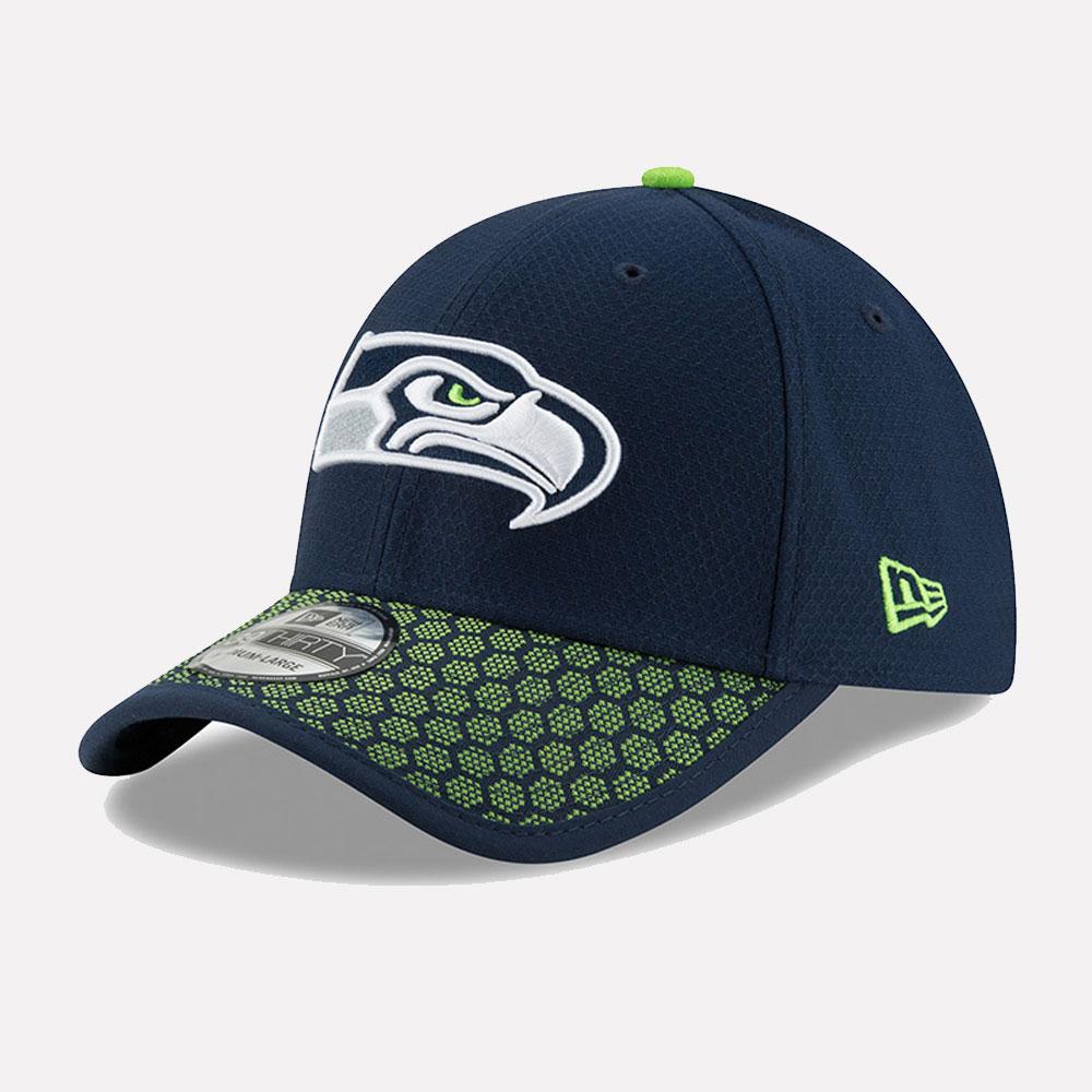 New Era Cap 39THIRTY NFL Sideline 2017 Seahawks Patriots Raiders ... 3b127c0d0088