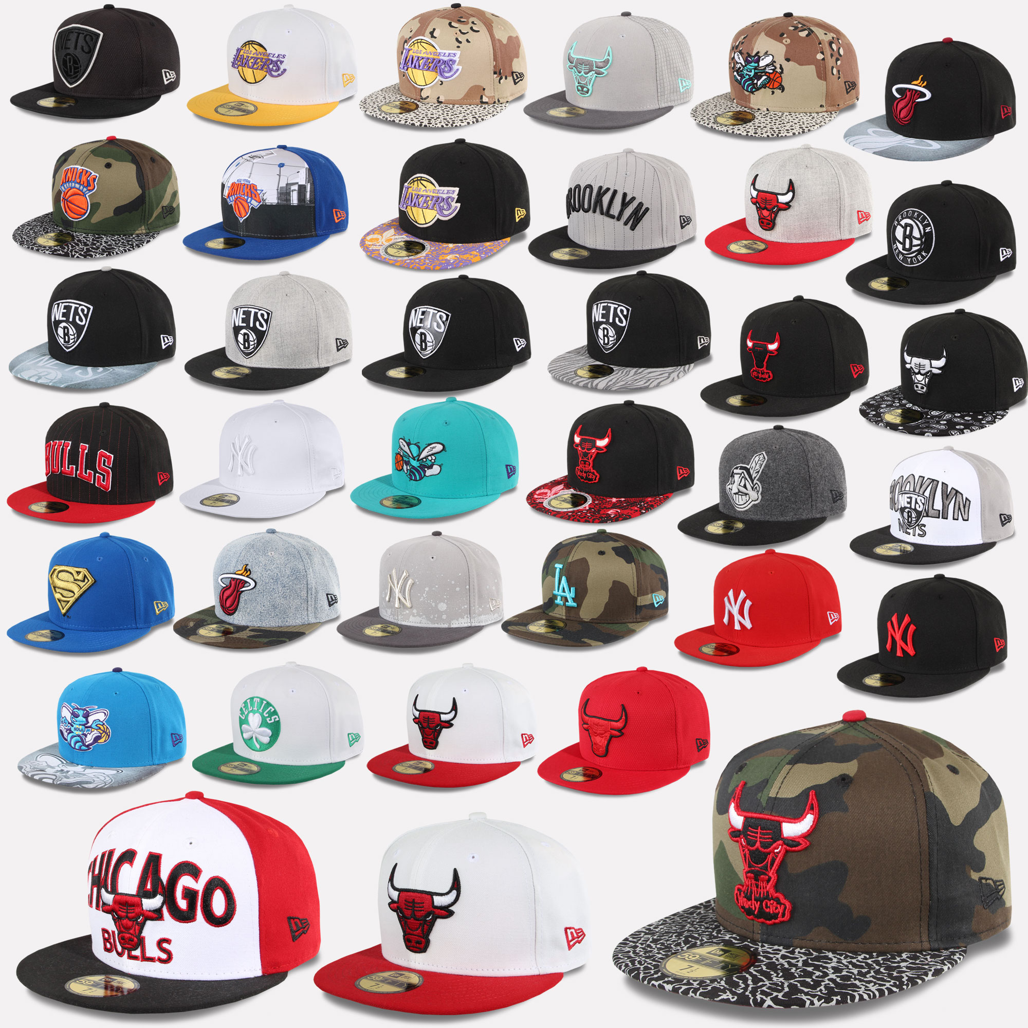 Details zu New Era Cap 59Fifty Fitted New York Yankees Chicago Bulls  Superman Hornets Etc 0a5f17494aa