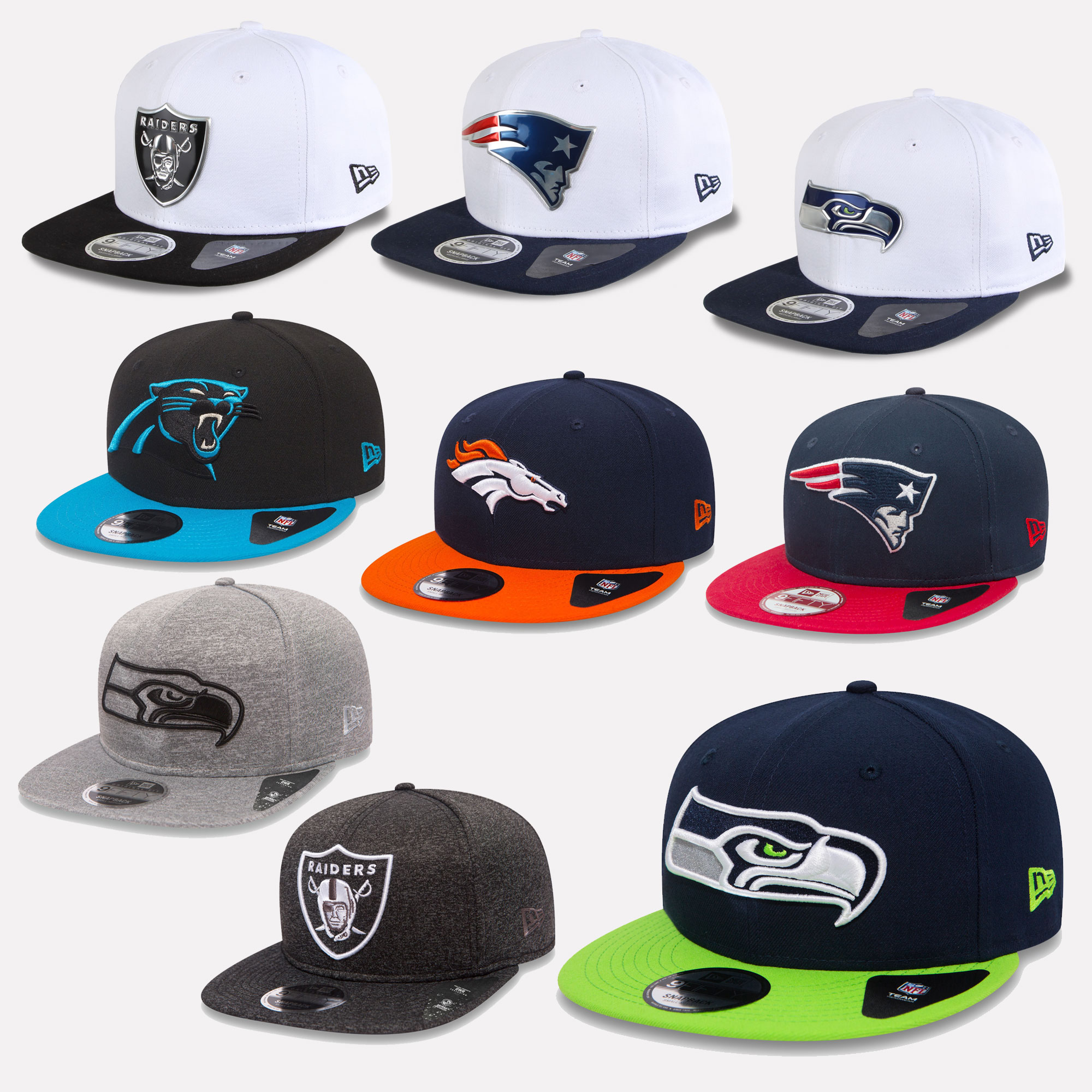 New Era 9fifty Snapback Cap NFL 2017 The League Seahawks Patriots ... 346bc82d708