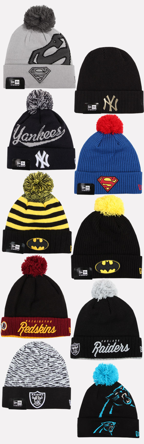 New Era Beanie Winter Hat Cap Yankees Redskins Raiders Superman ... 5ebb15b5b62