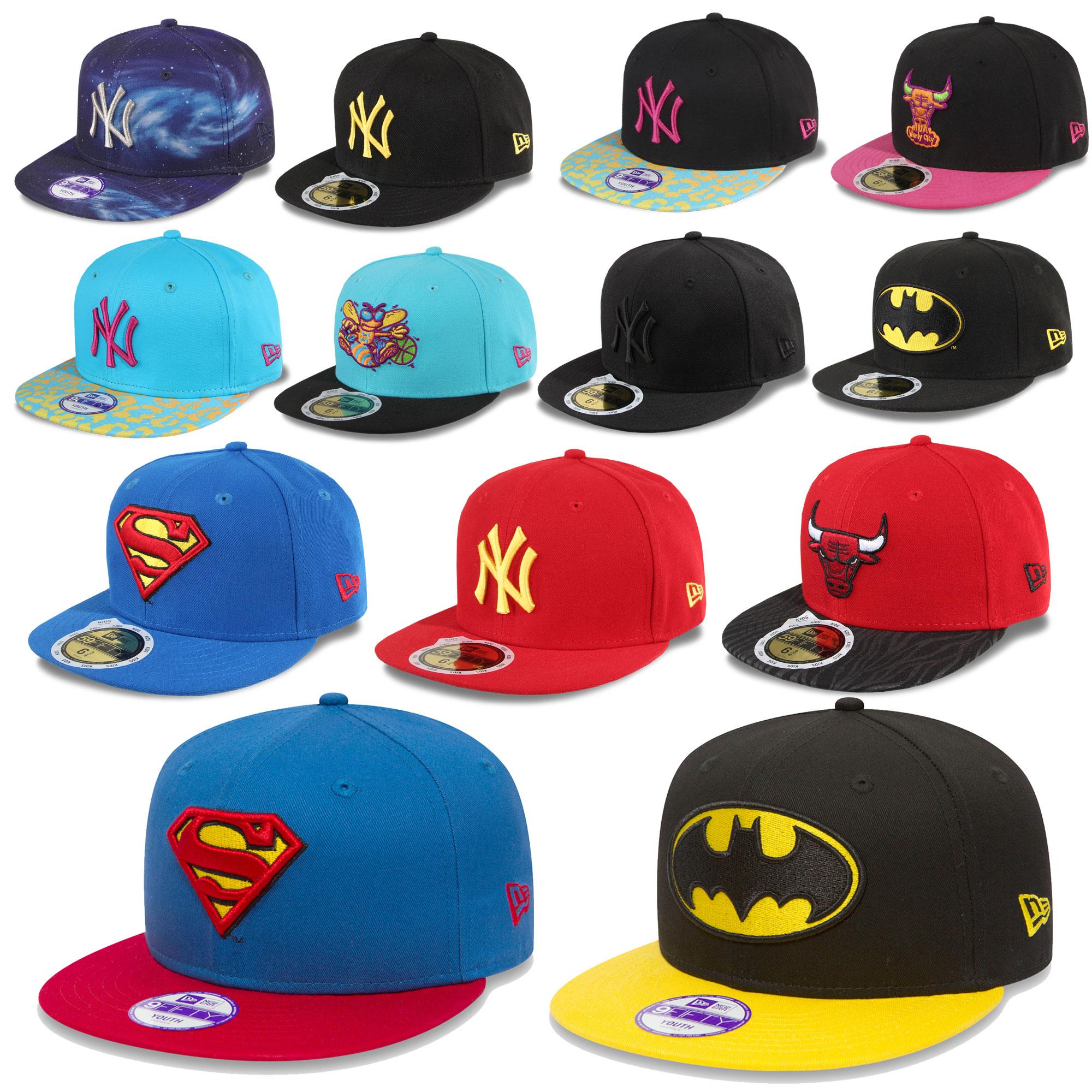 Details about New Era Children Cap Snapback 59fifty Boys Girls Yankees  Batman Superman Bulls 8ccfa9c99b6