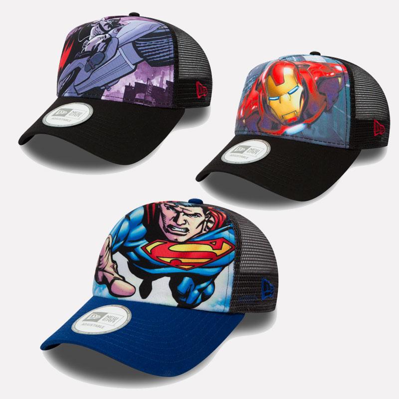 New Era Cap A-Frame Trucker Cap marvel dc comics batman ironman ... cdea3c1fde83