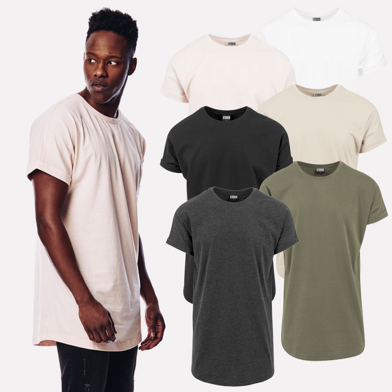 Urban Classics Men s T-Shirt Shaped Turnup Long Tee Extra Long ... 1e8b7aab72