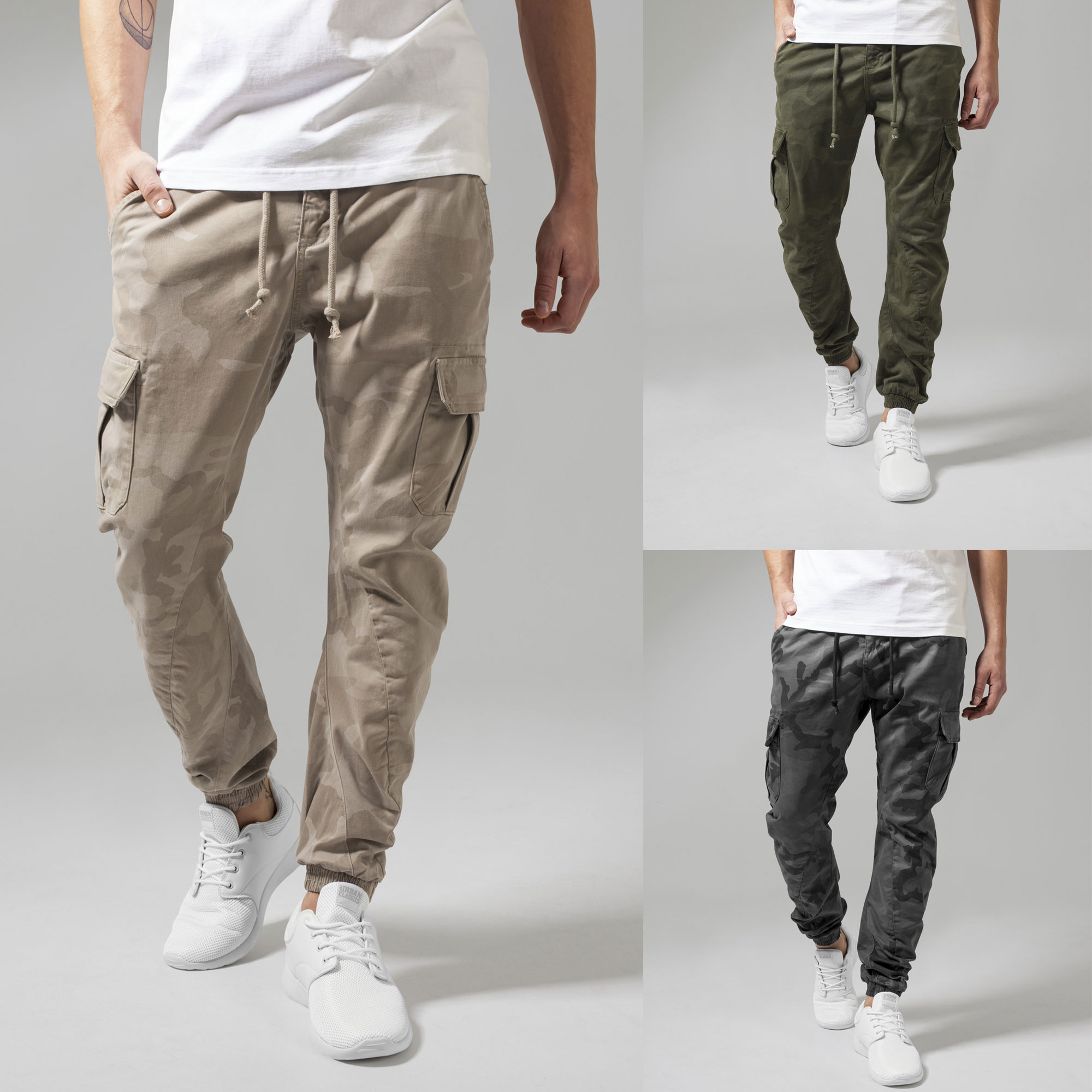 Details about Urban classics Men's Camo Cargo Trousers Skinny Jeans Sweatpants Chinos Jogging