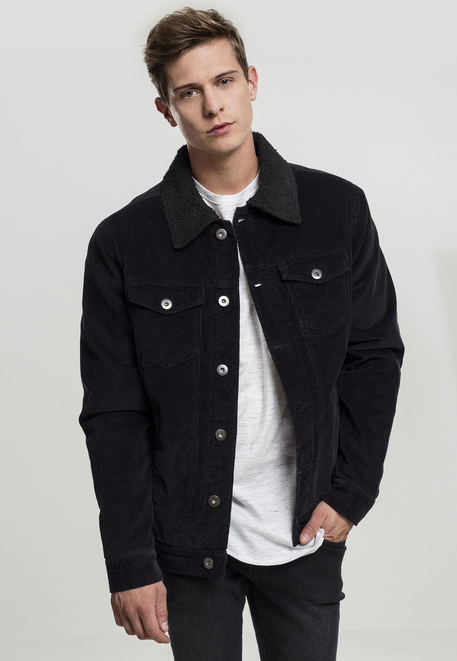 Details about Urban Classics Mens Corduroy Jeans Jacket Jeans Jacket Collar Lined Coat S XXL show original title